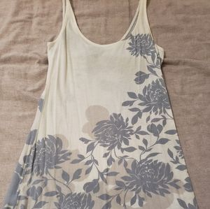 Cotton dress with gray/blue floral